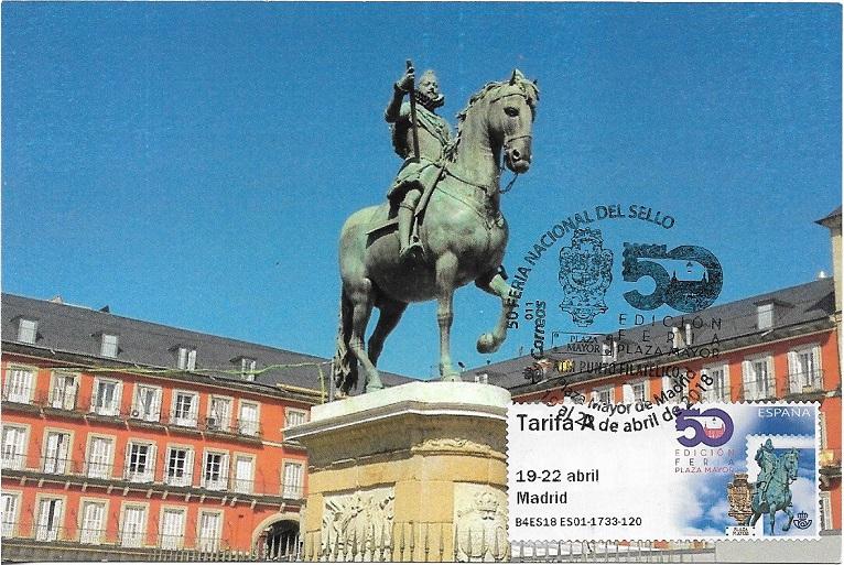 Felipe III. Plaza Mayor de Madrid. ATM