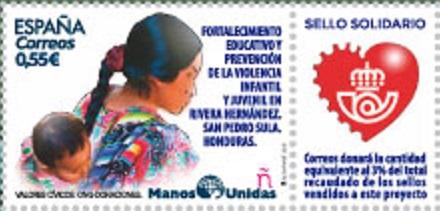 PRESENTACION SELLO MANOS UNIDAS EN TERUEL
