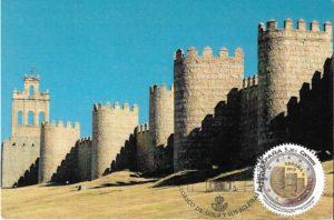 tarjeta muralla avila